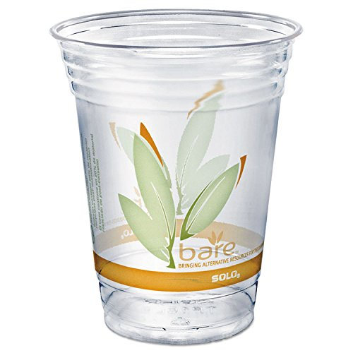 - SOLO RTP16DBAREPK Bare Eco-Forward RPET Cold Cups, 16-18 oz, Clear, 50/Pack