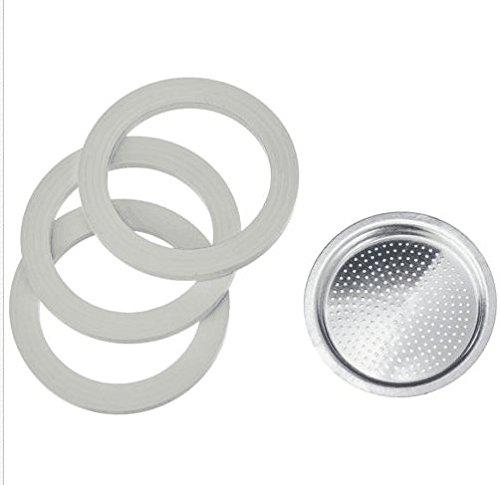 superbobi Junta y juego de filtros para cafeteras aluminio - Moka ...