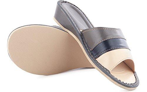 LABR78 Zoccoli Grigio Ciabatte Pantofole Donna Scarpe Ladeheid Aperte IvnA1wYqq