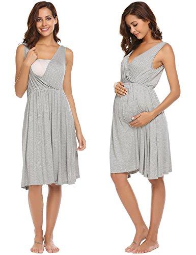 ns for Women,Pregnant V-Neck Maternity Nursing Sleepwear (Hospital Nursing Gown)