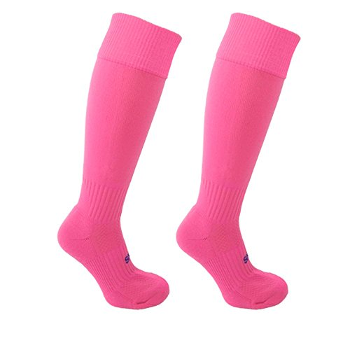 Little Grippers Twin Pack Pink Childrens Sports Socks with Stay On Technology Small (Shoe Size 13-3 / Approx 7-10 years old)