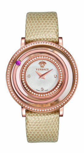 Versace Women's VFH080013 Venus Rose Gold Ion-Plated Coated Stainless Steel Red Genuine Topaz Diamond Watch