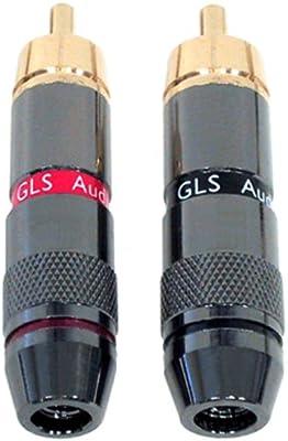 GLS Audio 4 Locking RCA Plugs Component Plug