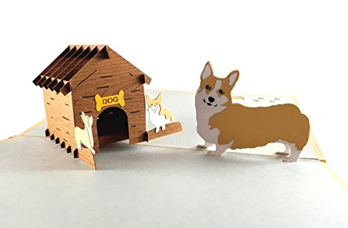 iGifts and Cards Mama Corgis N Puppies 3D Pop up Greeting Card - Cute, Canine, Pet, Dog, Doggies, Half-Fold, Happy Birthday, Just Because, Thinking of You, Baby Shower, Retirement, Friendship, Fun by iGifts And Cards