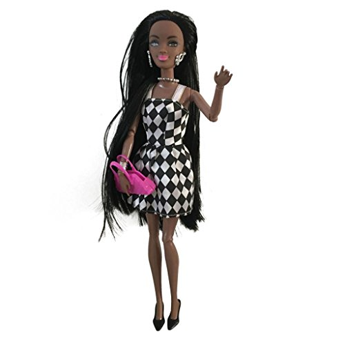 Fullfun y Movable Joint African Barbie Doll Toy