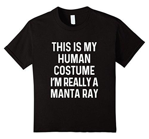 Black Manta Costume (Kids Funny Manta Ray Costume Shirt Halloween Adult Kids Men Women 8 Black)