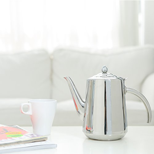 Stainless Kettle Hinged Beverage Serving