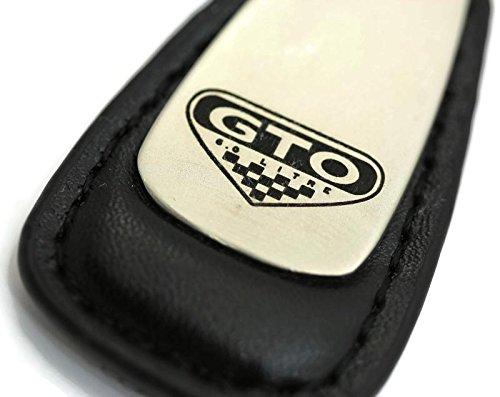 Pontiac Gto 6 0 Litre Leather Key Chain Black Tear Drop Key Ring Fob