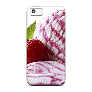 Hot Fashion MLPfu3791WDmSq Design Case Cover For Iphone 5c Protective Case (pink Ice Cream)
