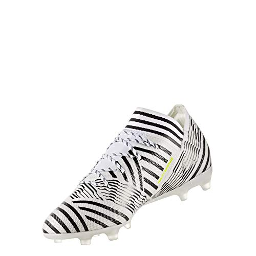 adidas Men's Nemeziz 17.2 FG Soccer Shoe, White/Solar Yellow/Black, (10.5 M US)