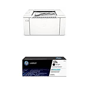 HP LaserJet Pro M102a - Impresora láser (Hi-Speed USB 2.0, 22 ppm, memoria de 128 MB, doble cara, modelo profesional, sin WiFi) + Toner CF217A, color ...