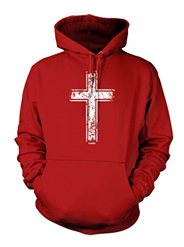Distressed Holy Cross - Christian Men's Hoodie Sweatshirt