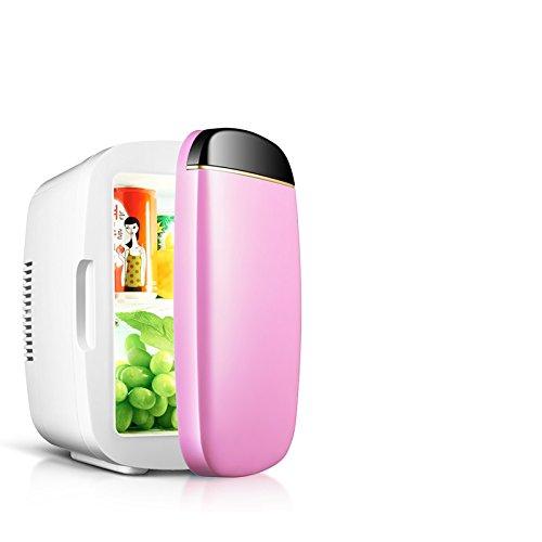 ni fridge, Portable Compact Personal Fridge Cools & Heats,Miniature refrigerator car mounted refrigerator home dual purpose refrigerator-Pink-31x25x19cm(12x10x7) ()