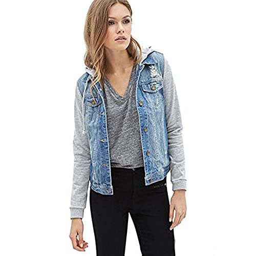 Hooded Jean Jacket Amazon Com