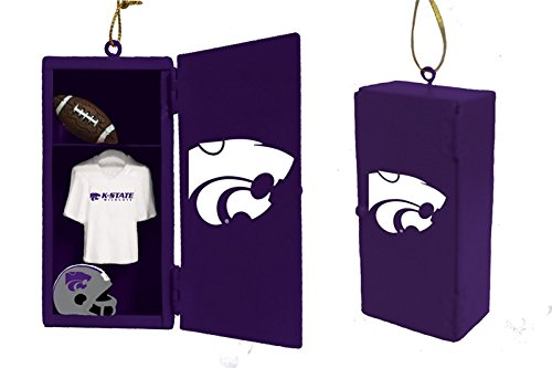 Team Sports America Kansas State Wildcats Team Locker Ornament - Kansas State Wildcats Santa