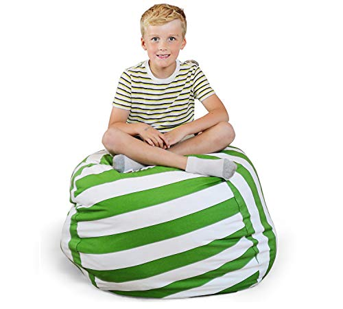 Creative QT Extra Large Stuff 'n Sit - Stuffed Animal Storage Bean Bag Chair for Kids - Pouf Ottoman for Toy Storage - Available in a Variety of Sizes and Colors (38