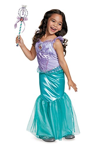 [Disguise Ariel Deluxe Disney Princess The Little Mermaid Costume, X-Small/3T-4T] (The Little Mermaid Costume)