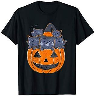 Funny Halloween Cat Pumpkin  for Men Women Cat Tricks T-shirt | Size S - 5XL