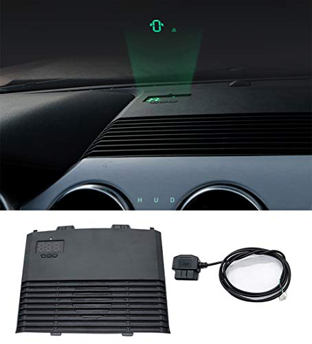 QHCP Car HUD Safe Drive Display Reflecting Windshield Head Up Display Screen Projector Fit For Ford Mustang 2015-2019