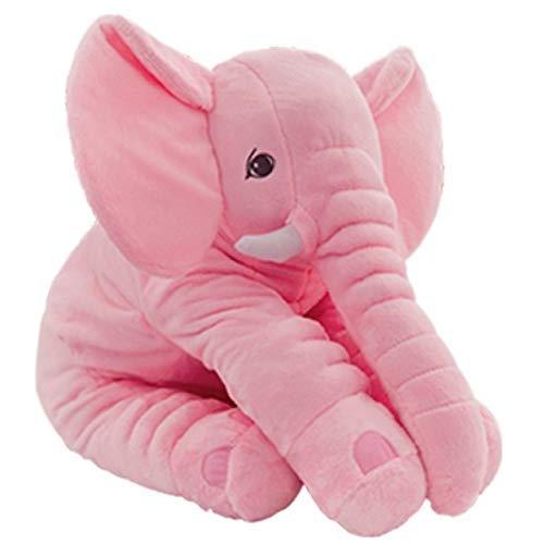 VANNI Adorable Peluche Elefante Almohada Altura 60 cm (Color Rosa)
