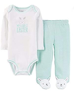 Just One You Carter's Baby Boy's or Girl's My First Easter Bodysuit Pants Set 3M