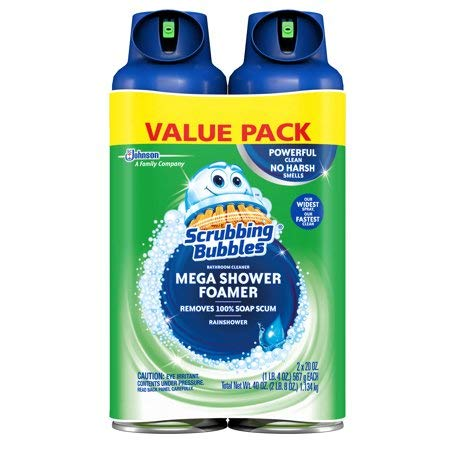 Scrubbing Bubbles Mega Shower Foamer Aerosol, 20 Oz, Pack of 2 by Scrubbing Bubbles