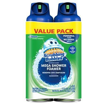 Scrubbing Bubbles Mega Shower Foamer Aerosol, 20 oz (2 Pack)