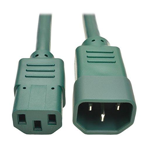 Tripp Lite Standard Computer Power Extension Cord  10A  18 Awg  Iec 320 C14 To Iec 320 C13   Green  6 Ft   P004 006 Agn