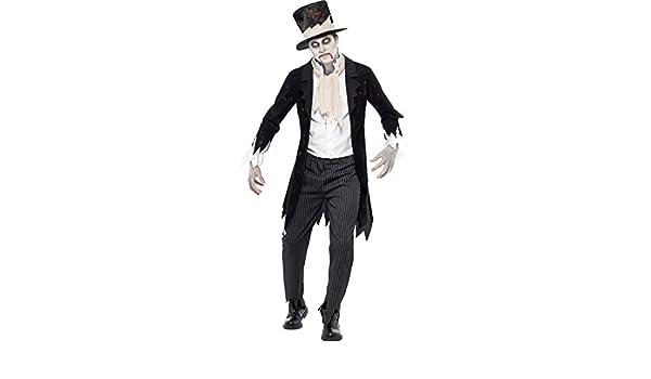 Amakando Vestido prometido Muerto Viviente Disfraz de Novio Zombie ...
