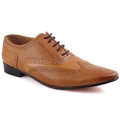 Unze Zapatos de cuero formales Hombres Simki ' broncearse