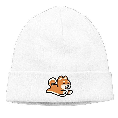 Unisex Fashion The Happy Running Shiba Inu Dog Knit Hat Hips