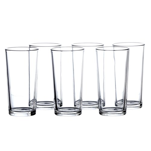 - Highball Glasses Set, 12 Pieces, Clear Bar Glass, 7.8 Ounce (230 ml), Drinking Glassware for Water, Juice, Cold Beverages and Cocktails, Heavy Base