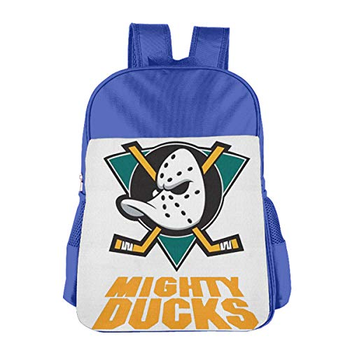Children's School Bag High Quality Hipster Retro The Mighty Ducks Logo BlueOne Size