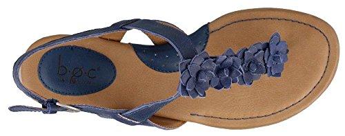 B.O.C. Frauen Sonoran Split Toe Leger Leder Flache Sandalen Blue