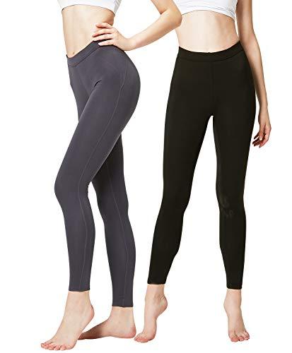 DEVOPS Women's 2 Pack Thermal Long Johns Underwear Leggings Pants