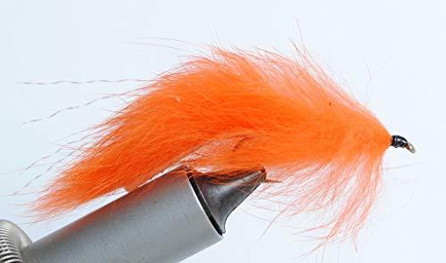 - Blue Wing Olive Bunny Leech Streamer Fly, 6 Pack (Orange, 4)