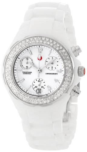 Michele Women's MWW12C000001 Tahitian Analog Display Analog Quartz Ceramic Watch