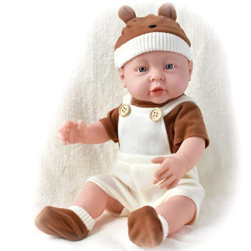 "HiPlay 16"" Soft American Baby Boy Doll -Realistic Vinyl Body with Cute Outfit, Newborn Baby Dolls for Kids, Toddlers RD021 (Boy)"