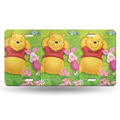 Meirdre Aluminum License Plates - Pooh with Piglet License Plate Tag Car Accessories 12 X 6 Inches