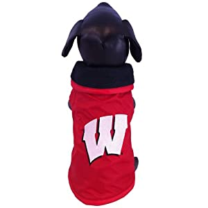 All Star Dogs NCAA Wisconsin Badgers Collegiate Outerwear Dog Coat