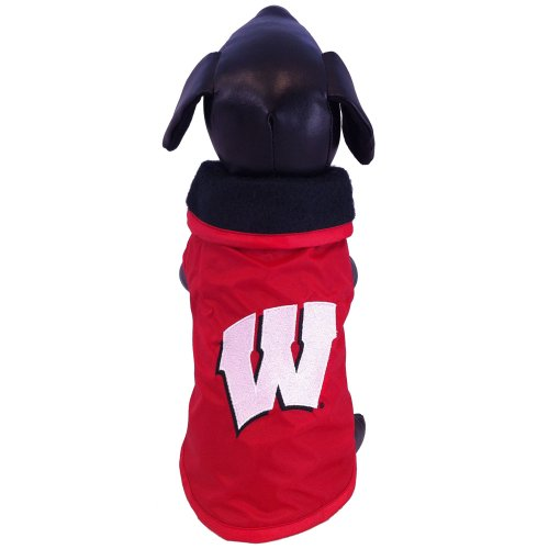 NCAA Wisconsin Badgers Collegiate Outerwear Dog Coat (Large)