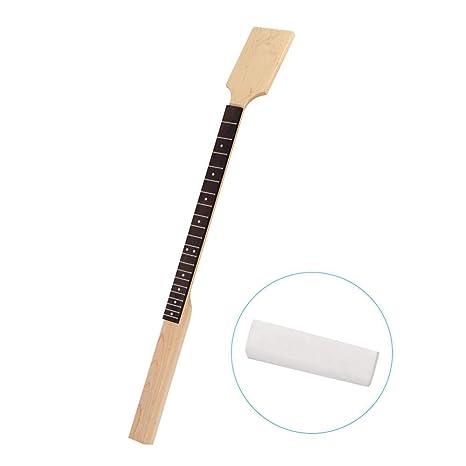 Guitarra Cuello de Arce Diapasón, Madera 21 Traste Guitarra Eléctrica Cuello para 4 Cuerdas Cigar