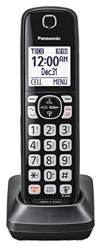 Panasonic KX-TGFA51B Dect 6.0 Digital Additional Cordless Black Handset for TGF5xx (2 Line Cordless Extra Handset)