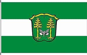 Mesa banderitas kirchseeon–Soporte para banderas de mesa de madera