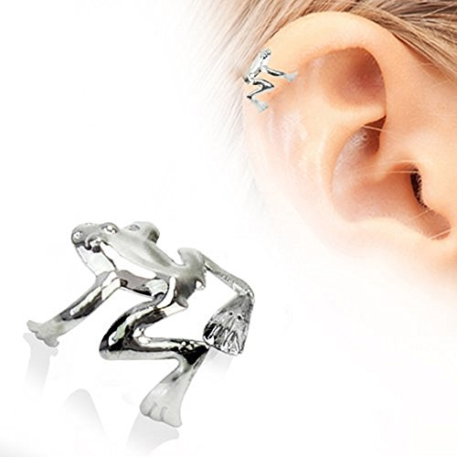 - Tree Frog Fake Cartilage Ear Cuff (Stainless Steel)