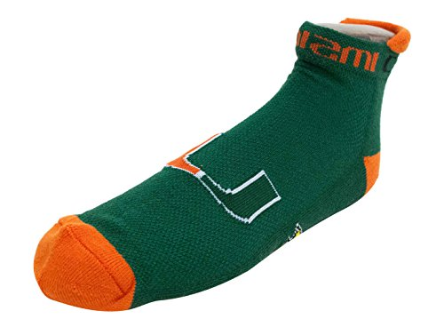 Donegal Bay University Of Miami Green Footie Sock,One Size,green by Donegal Bay