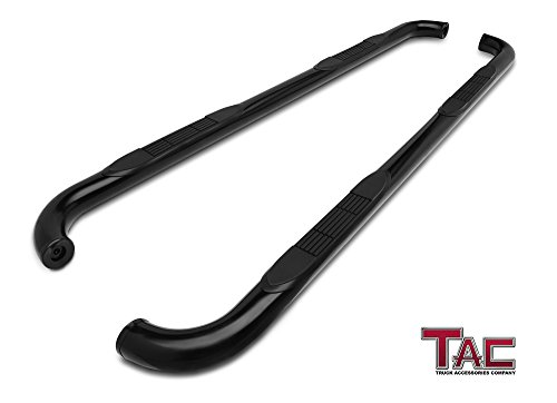 TAC Side Steps Fit 2001-2006 Ford Explorer Sport Track 3 inches Black Side Bars Nerf Bars Step Rails Running Boards Off Road Automotive Exterior Accessories (2 Pieces Running Boards) ()