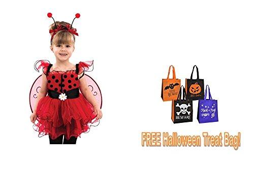 [LADYBUG TODDLER GIRL HALLOWEEN COSTUME 18-24 months + FREE TREAT BAG!] (Bag Lady Halloween Costume)