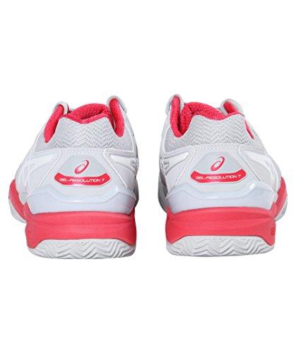 9601 7 Chaussures Clay resolution Femme Grey Asics De Tennis Red Gel White BZpxIP