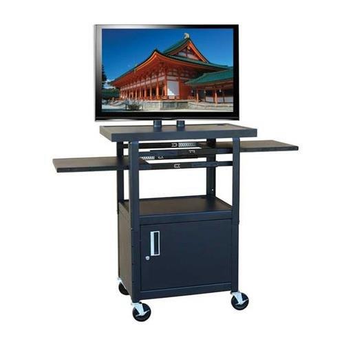 Wide Body Av Cart - Hamilton Buhl Wide Body Flat Panel TV Cart with Locking Cabinet